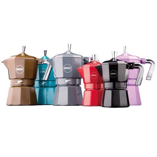 Kávovar ZARINA na 6 šálků espresso šedá