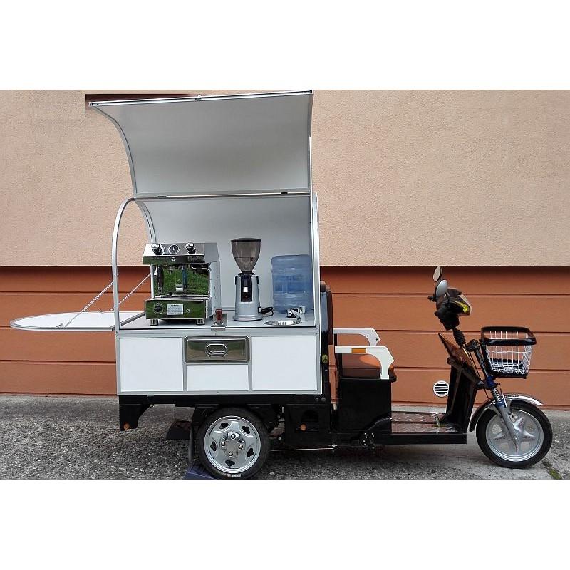 Elektrická tříkolka - malá kavárna