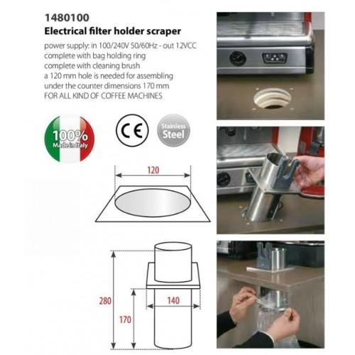 Automatický čistič portafiltrů - odklepávač vestavný PRO FONDI