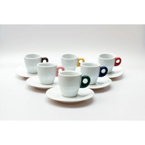 Espresso GIACINTO COLORE SET 6 ks 65 ml šálek+podšálek
