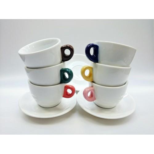 Cappuccino GIACINTO COLORE SET 6 ks 200 ml šálek+podšálek