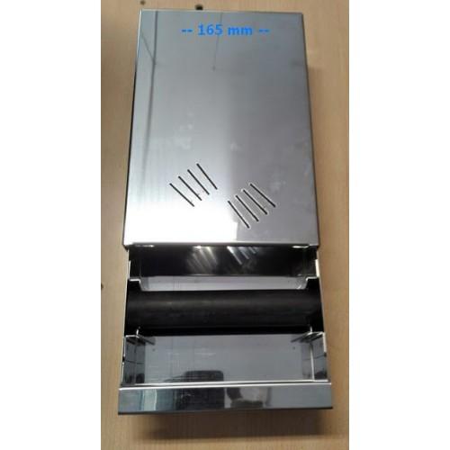 Odklepávací zásuvka nerez - knockbox pod mlýnek 165x270x65 mm