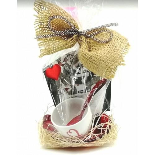 Valentýn - šálek GUZZINI, čerstvě pražená káva - dárkové balení