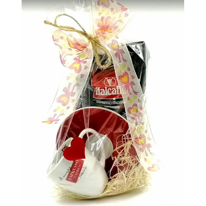Valentýn - Italcaffe 100% Arabica 250gr - dárkové balení