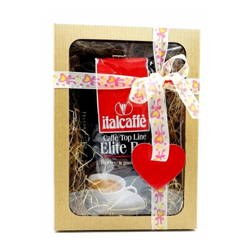 Valentýn - Italcaffe 100% Arabica 1000gr - dárkové balení