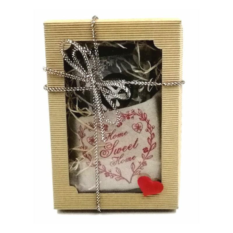 Valentýn -čerstvě pražená káva, kuchyňská chňapka - dárkové balení