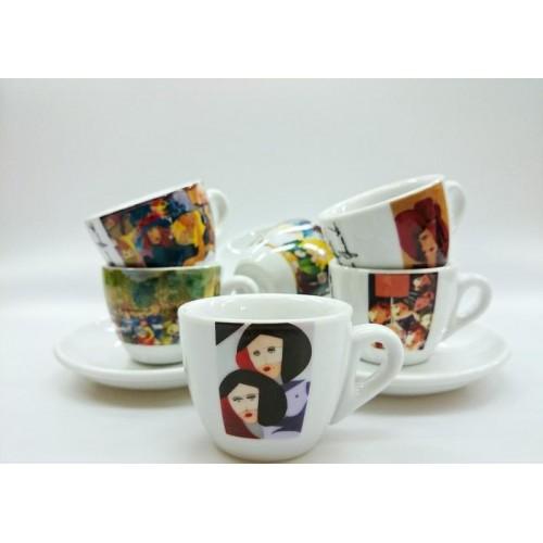 Šálek+podšálek cappuccino Rosa Collezione DIPINTI 165ml