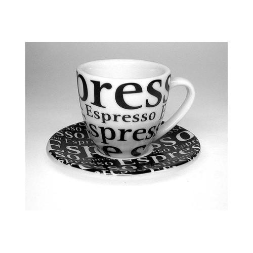 Espresso šálek s podšálkem writing/písmo