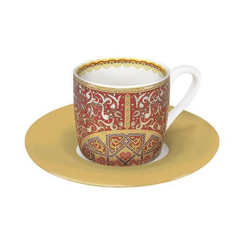 Espresso šálek s podšálkem Al Hambra červený na kávu