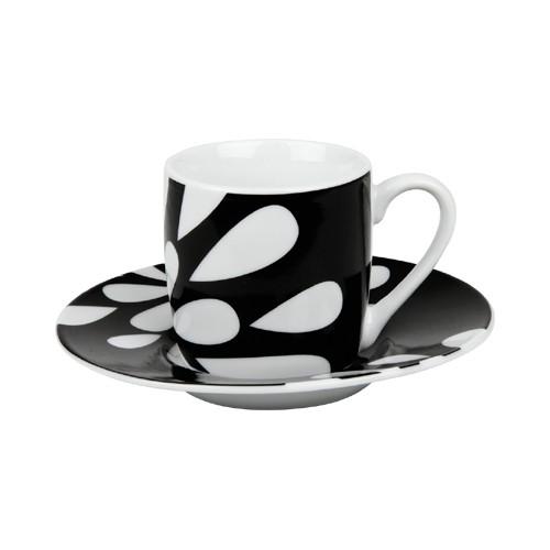 Espresso šálek s podšálkem Bloom na kávu