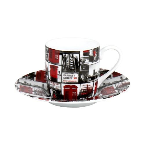 Espresso šálek s podšálkem London Repeat na kávu