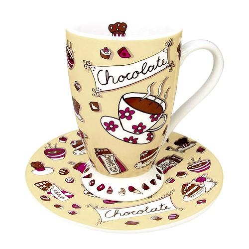 Hrnek s podšálkem Chocolate