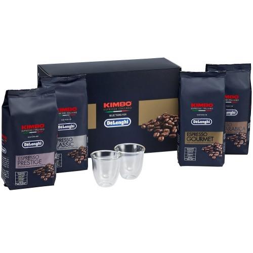 Exkluzivní sada DeLonghi káva a skleničky