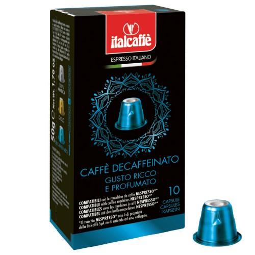 Nespresso kompatibilní bezkofeinové kapsle Italcaffe