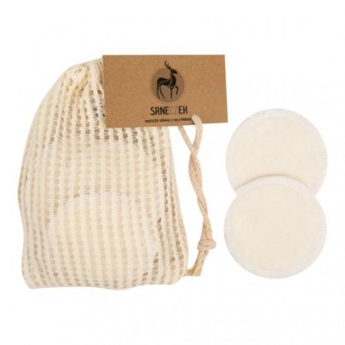 Odličovací tampony pratelné 10 kusů z Bio bavlny a bambusu SRNECZEK