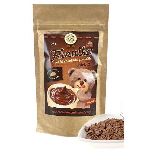 Horká čokoláda bez lepku Fanulka - mléčná 100g