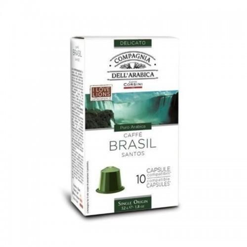 Káva Corsini Arabica Brasile santos 7gr 18 kusů (POD)