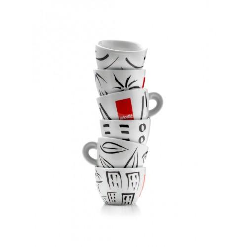 Šálek+podšálek na cappuccino Italcaffé SET 6ks