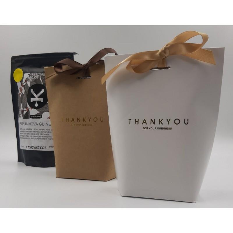 Čerstvě pražená káva 100% Arabica - dárkové balení bílé