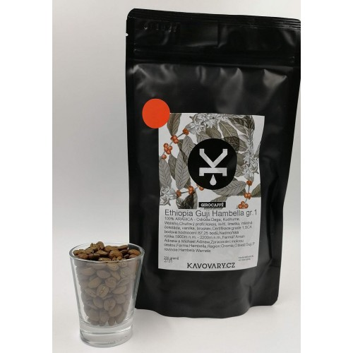 Káva GiroCaffé ETIOPIA- certif SCA 87,25 bodů