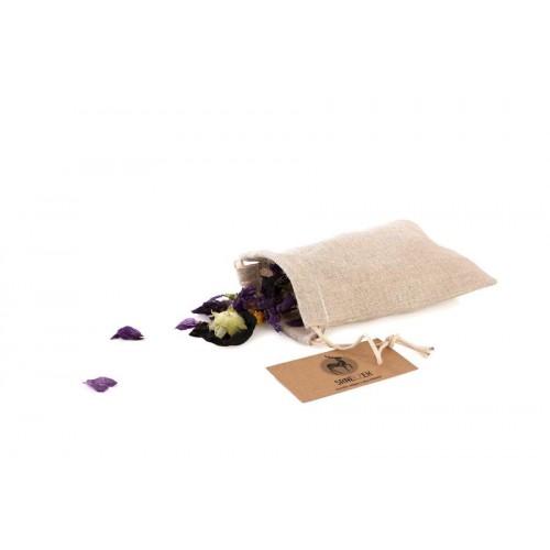 Látkový sáček ze lnu - malý (15x11)