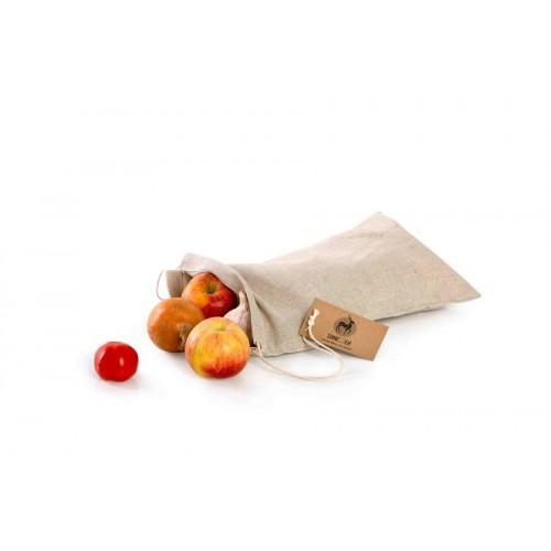 Látkový sáček na pečivo ze lnu - střední (33x20)