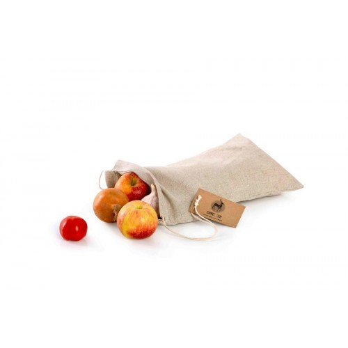 Látkový sáček na pečivo ze lnu s bočním otvorem - velký (35x45)
