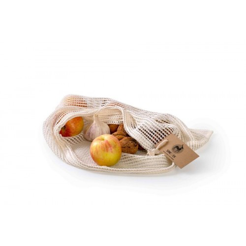 Síťový sáček z bavlny s bočním otvorem - maxi (45x35)