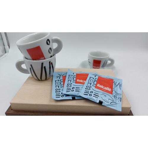 Italcaffé bezkofeinová mletá káva 7g jednoporcová