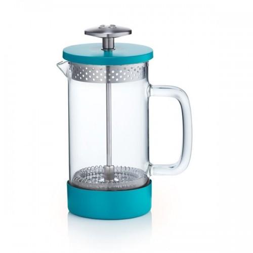 Core Cofee Press 3 šálky tyrkysový