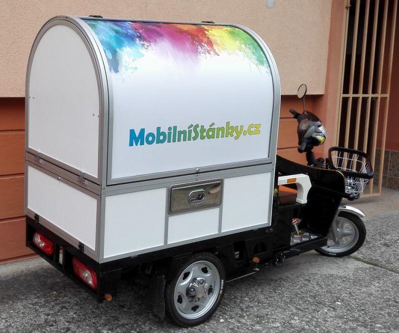 Mobilní kavárna tříkolka