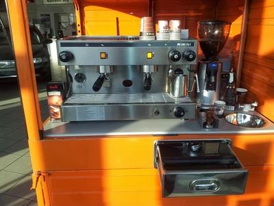 Piaggio APE 50 s kávovarem RIMINI